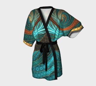 Aperçu de Kimono Robe with Beautiful Corded Leather Turquoise Fractal Bangles