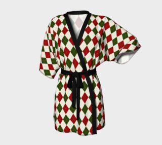 Christmas Argyle Kimono Robe preview
