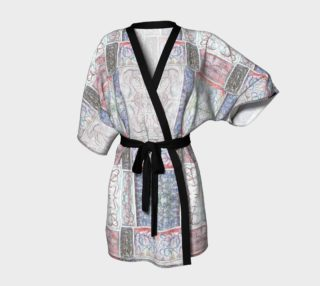 Winter White Mosaic Kimono Robe preview