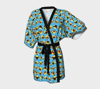 Pug Emoji Emoticon Kimono Robe preview