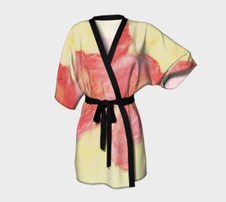 Red Flower Blooms Kimono preview