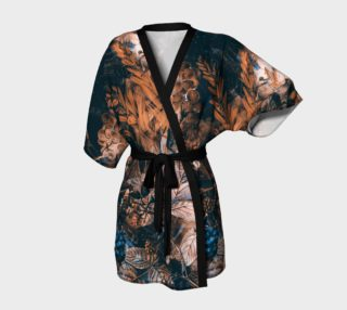 kimono robe dark flowers art preview