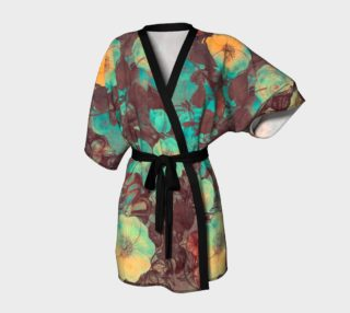 Aperçu de kimono robe yellow and green flowers