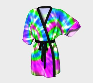 Retro Tie Dye 5 Pink Blue Turquoise Green preview
