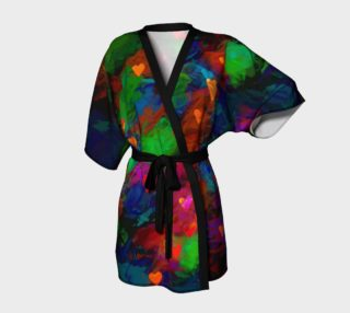 Aperçu de Wrapped in Painted Hearts Kimono Robe
