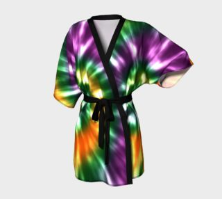 Tie Dye in Green Purple and Gold preview