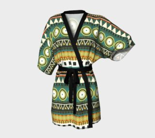 Tribal Print - Green and Gold preview