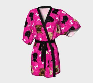 Bright Pink Pug Dog Kimono preview