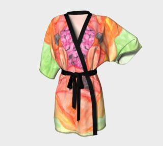 Giant Orange Poppy Kimono preview