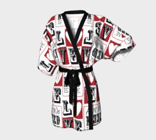 Aperçu de All You Need is Love Valentine Kimono