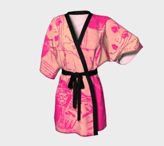 A night out pink kimono preview