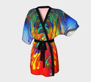 Aperçu de Abstract Flow Kimono Robe by GearX