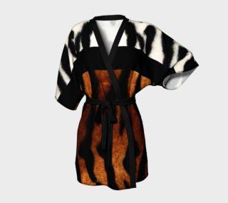 Tiger Fur Kimono Robe by GearX preview
