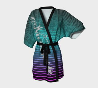 Umsted Design Namaste Distressed Stripe Kimono Robe preview