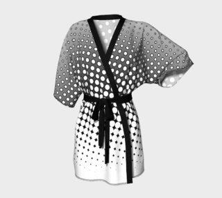 Gray Polka Dots Kimono Robe preview