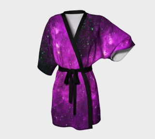 North America Nebula Infrared Purple Enhanced Kimono Robe preview