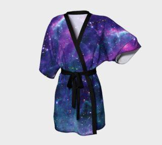 Stars in the Tarantula Nebula Enhanced Blue Kimono Robe preview