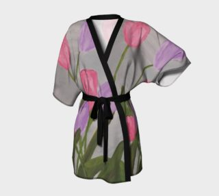 Pink and Purple Tulips Kimono preview