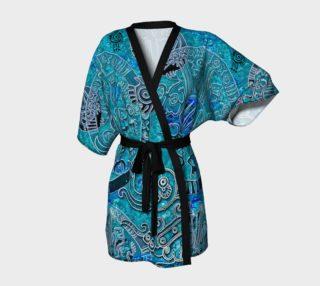 Aztec blues Kimono Robe aperçu