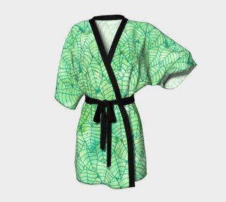 Aperçu de Green foliage Kimono Robe