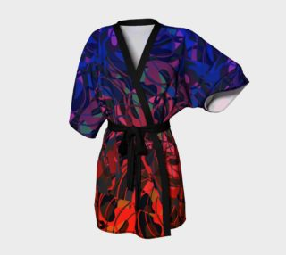 Hot Summer Nights Abstract - Blue and Deep Red  preview