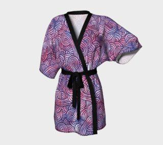 Aperçu de Purple swirls doodles Kimono Robe