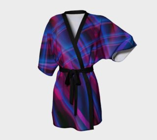 Blended Red and Blue Abstract Kimono Robe preview