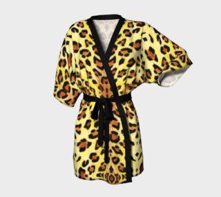 Aperçu de Leopard fur Kimono Robe