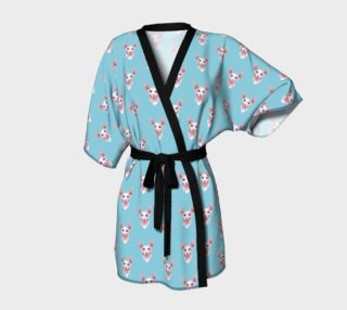 Sphynx cats pattern Kimono Robe preview