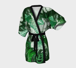 Tropical leaves Kimono Robe preview