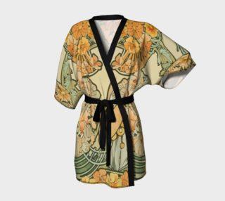 Aperçu de  Alfons Mucha pattern Kimono Robe