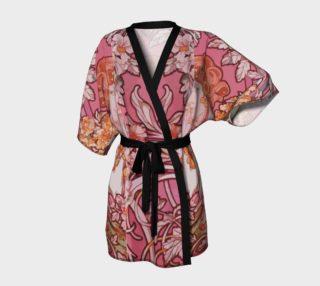 Aperçu de Alfons Mucha pattern 2 Kimono Robe