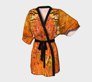 Fall Leaves Harvest Kimono Robe aperçu