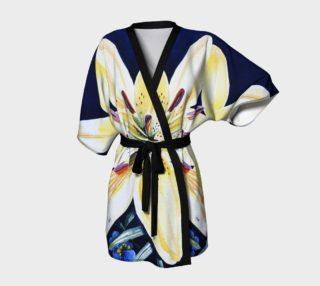 Yellow Lilies Delight Kimono Robe preview