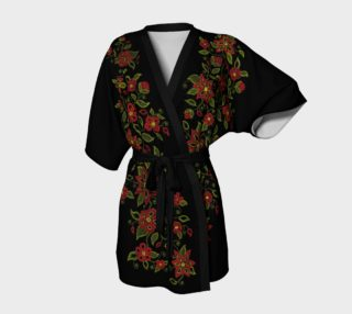 Metis Art Robe Native Beading Art Kimono Robe preview