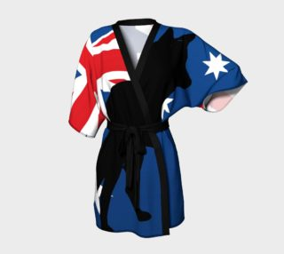 australian cattle dog silhouette on flag preview
