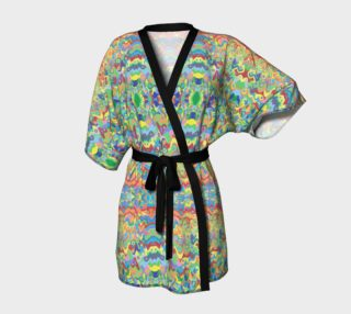 Abstract Hills Pattern Kimono Robe preview
