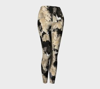 LEGGINGS - LEGGINGS Poodles Splash of Silver Beige and Parti pants! preview