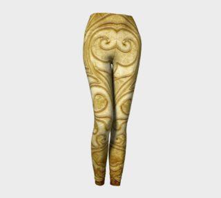 Scroll Gold Leggings preview