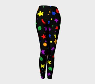 Rainbow star tights preview