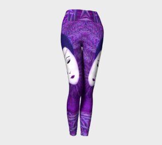 Purple Festival Sad Clown Mask Leggings preview