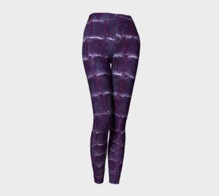 purple faux croco leggings preview