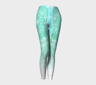 Aperçu de Teal Watercolor Mandala Leggings