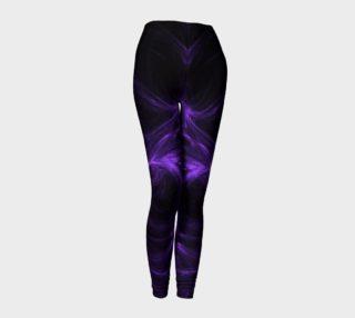 Purple Fractal on Black Leggings preview