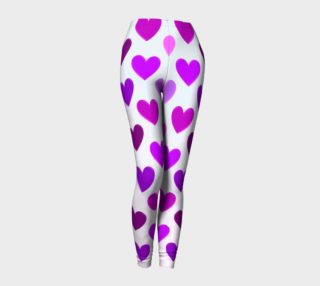 Purple Hearts Leggings preview