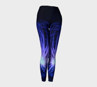 Black light Reactive Anemone Leggings preview