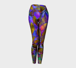 Leggings Floral Abstract Stained Glass G46 preview