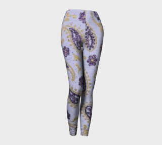 purple and gold paisly Leggings preview