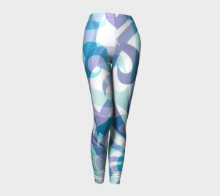 Leggings Floral abstract background G20B preview