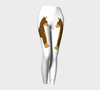 Miniature Pinscher Chocolate and Tan Silhouette Leggings preview